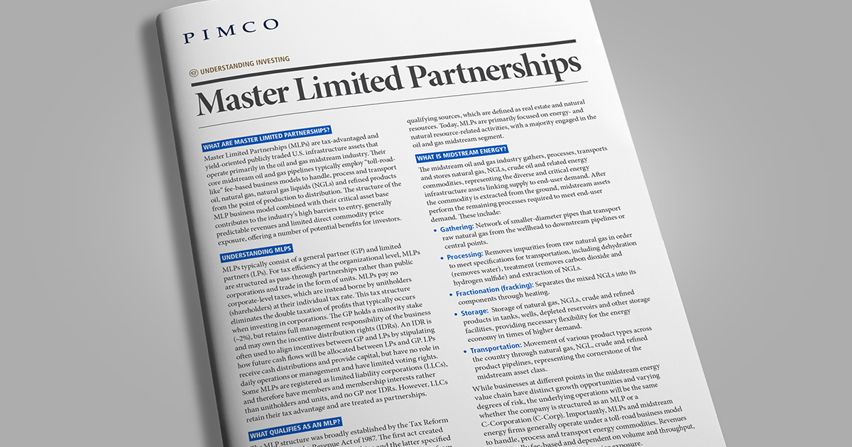 Master Limited Partnerships (MLPs) | PIMCO